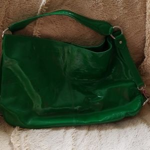 Boden green patent leather purse